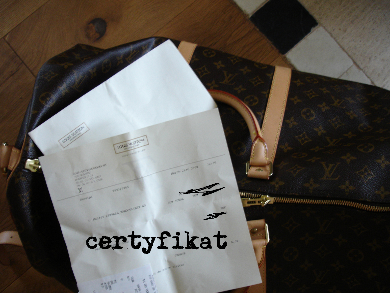 certyf na torbie