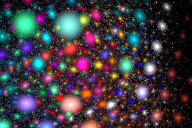 coloured lights fractal